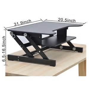 raising desk best height adjustable workstation risers raise your