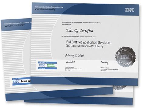ibm business card template professional certification