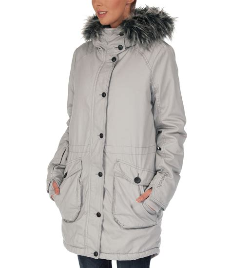 bench coats women bench wolfish jacket in gray lyst