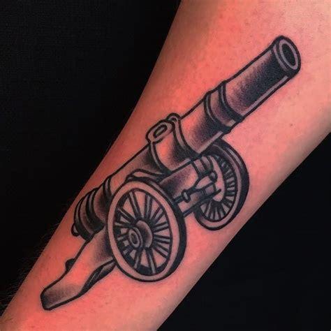 15 battleworthy cannon tattoos tattoodo