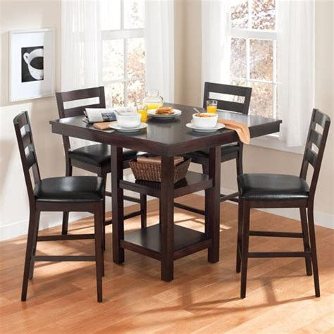 counter top kitchen table sets kitchen table walmart canopy gallery collection 5 counter height dining set espresso