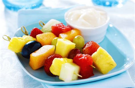 fruit k bob rainbow fruit skewers with yogurt fruit dip recipe dishmaps