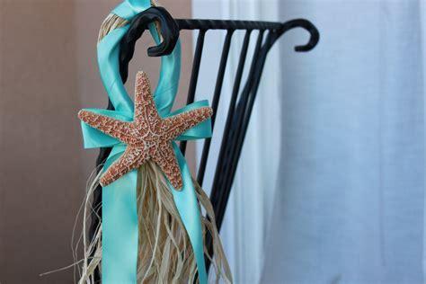 Beach Wedding Starfish Decor Aqua by BeachWeddingsByBree