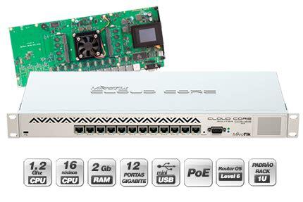 Mikrotik Ccr1016 12g 2gb Ram 12xgbit Lan L6 1u Rack Psu Lcdmurah mikrotik link technologies inc