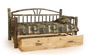 Log Daybed Furniture Rustic Log Trundle Bed Woodland Creek Furniture