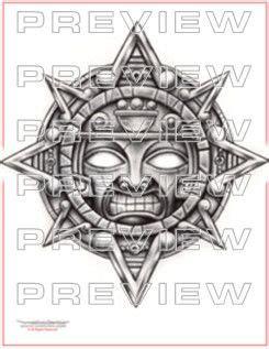 aztec sun tattoo designs aztec sun design cool ideas