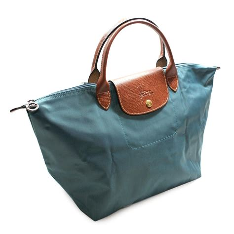 Longchamp Le Place 12 Medium Shoulder Tote Bag Duck Blue #1623089434   Longchamp 1623089434