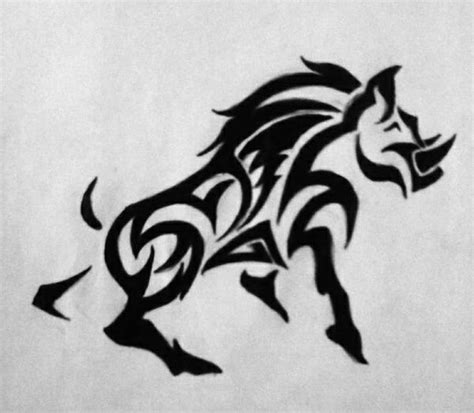 tribal boar tattoo tribal boar tattoos pictures to pin on tattooskid
