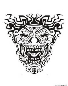 aztec mask template mask inspiration inca mayan aztec 3 coloring pages