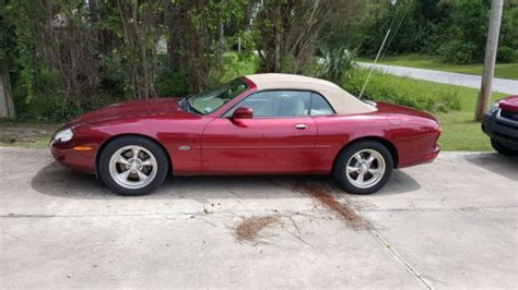 how do i learn about cars 1997 jaguar xk series electronic valve timing 1997 jaguar xk8 convertible 81 915 miles carnival red with cream interior