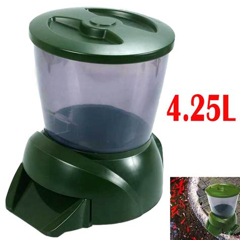 Auto Feeder Fish Food Timer Wt 180a automatic fish feeder auto pond fish feeder plastic timer 4 25l 1 6kg 1 to 90 days fish food