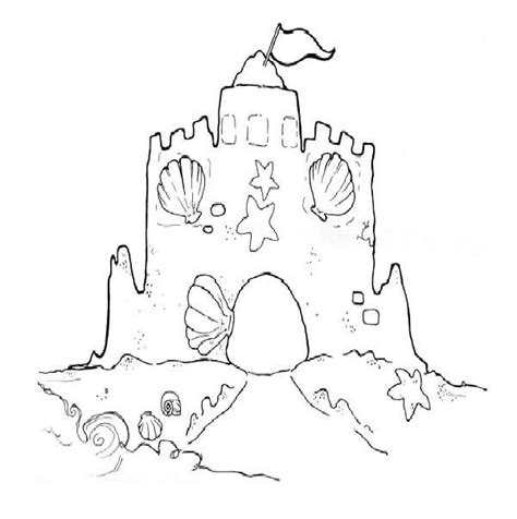 free coloring pages sand castle 43 best beach ocean preschool images on pinterest fish
