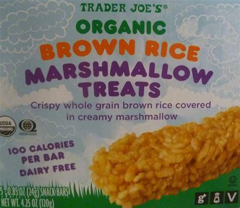 trader joe s treats trader joe s organic brown rice marshmallow treats reviews trader joe s reviews