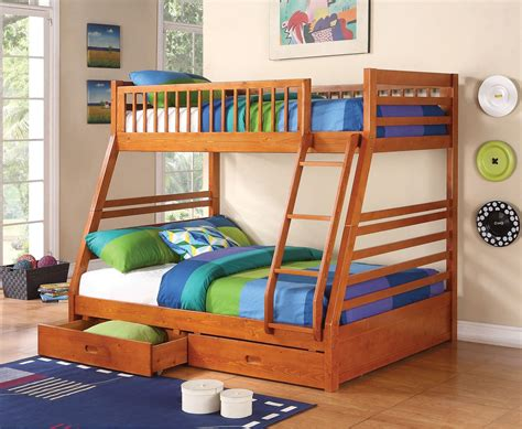size bunk bed cooper size bunk bed from coaster 460183