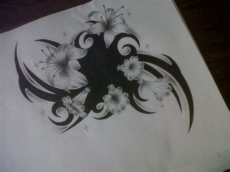flower tattoo design cover up by tattoosuzette on deviantart