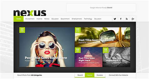 elegant themes gallery page nexus wordpress theme