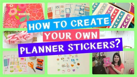 how to make your own diy homeschool planner diy how to create your own planner stickers youtube