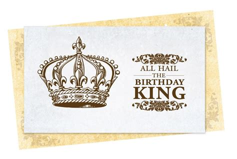 The King Birthday Card Happy Birthday King Images My Blog