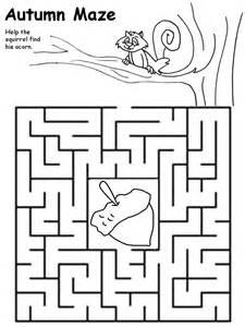 harvest printable mazes preschoolers bing images