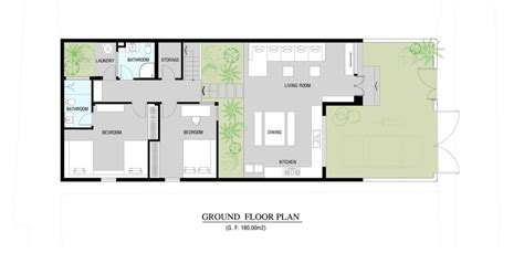 garden house plans urban vietnamese house garden kitchen dining and living space in one room
