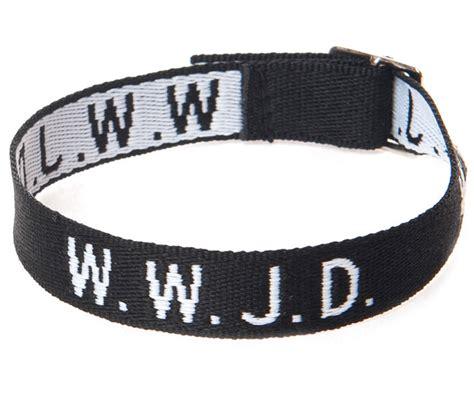 Armband WWJD (svart)   Argument Förlag