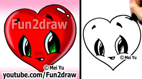 i sew cute and draw how to draw a heart easy cute popular cartoon