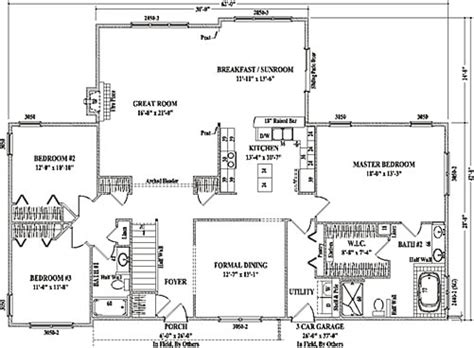 wardcraft homes floor plans durham ii by wardcraft homes ranch floorplan