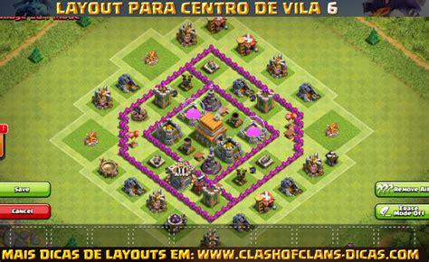 layout com cv 6 layouts de centro de vila 6 para clash of clans clash of