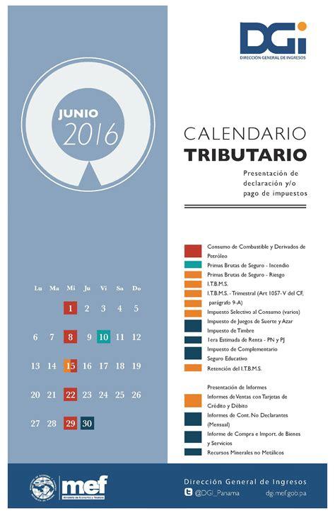 vencimiento impuestos nacionales 2016 calendario vencimiento impuestos mes de junio 2016 mgi