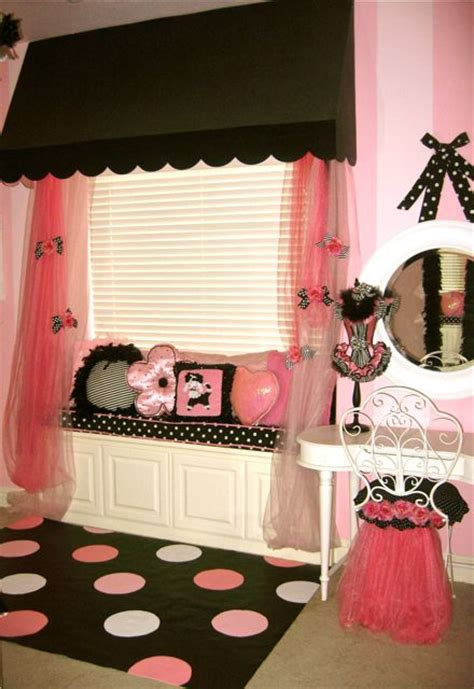 paris themed bedroom curtains poodles paris and a pink bedroom design dazzle