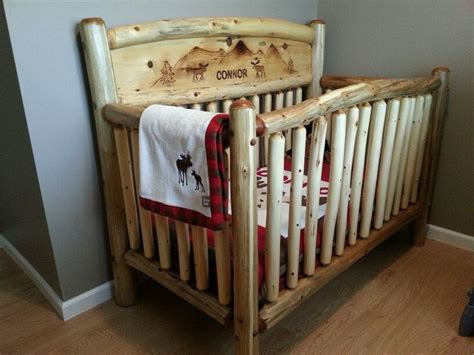Rustic Log Baby Crib Log Furniture Barnwood Furniture Log Cribs For Babies
