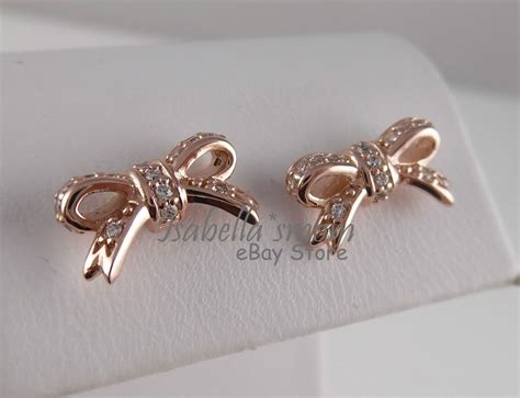 sparkling bow 100 authentic pandora clear cz gold