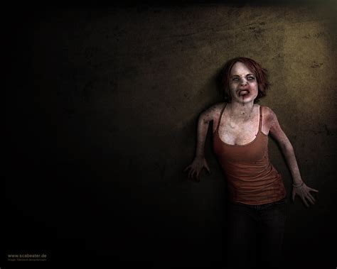hot zombie girl wallpaper zombie wallpaper by scabeater on deviantart