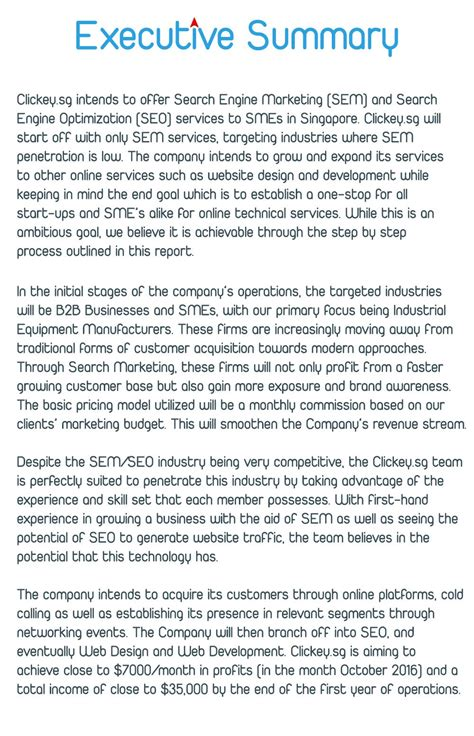 executive summary template for business plan business plan executive summary sle drureport281 web
