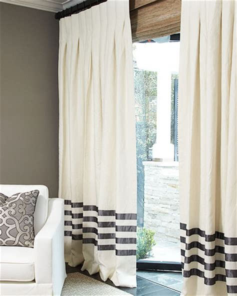 hotel draperies hand made the hotel drape in linen and roman blinds on
