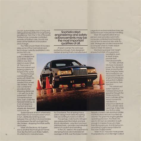 car service manuals pdf 1986 lincoln continental mark vii interior lighting lincoln continental 1986