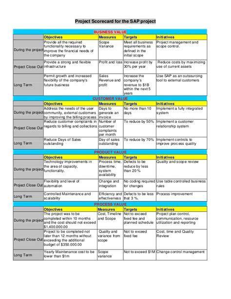 project scorecard template project scorecard project scorecard excel template