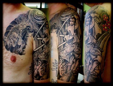 half tattoo sleeve designs half sleeve images designs