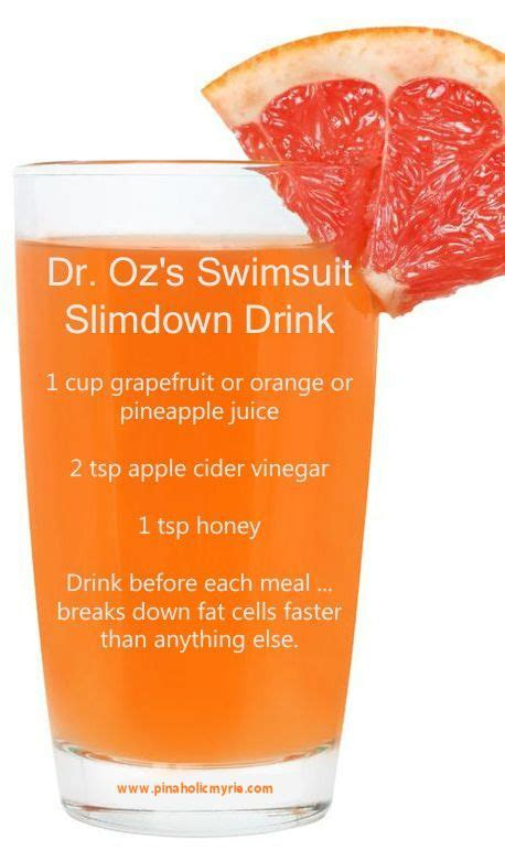 Tummy Detox Dr Oz by Dr Oz Swimsuit Slimdown Drink Health And