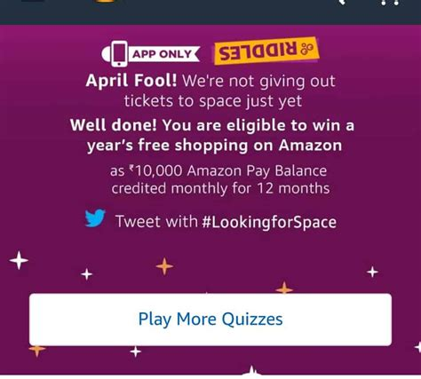 amazon quiz ans amazon riddles quiz answers win a ticket to space