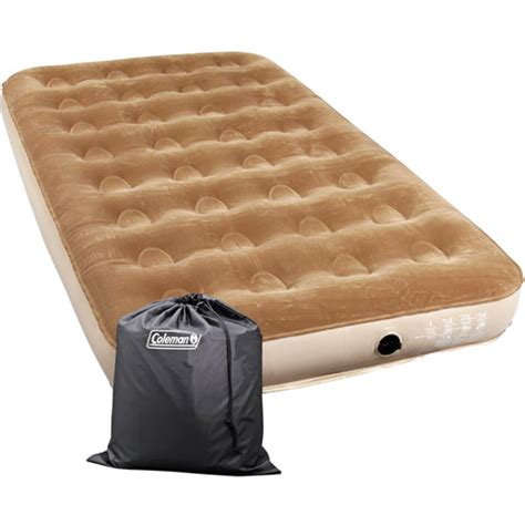 air beds at walmart coleman twin sized flocked air bed walmart com