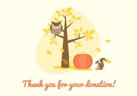 thank you for your donation card template donation thank you letter sles free printable cards