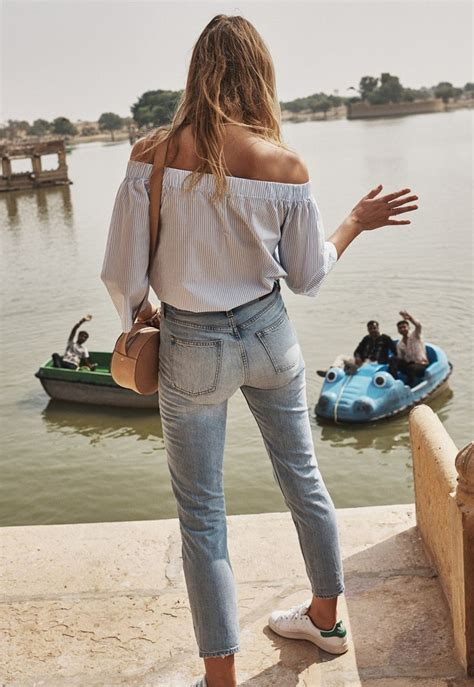 is madewell denim the best the small things blog madewell perfect summer jean worn with the clean off the