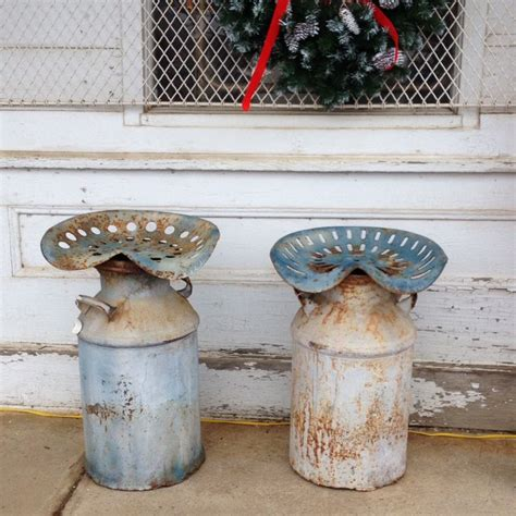 Tractor Seat Milk Can Stool by Antique Stools Made From Milk Can And Tractor Seat