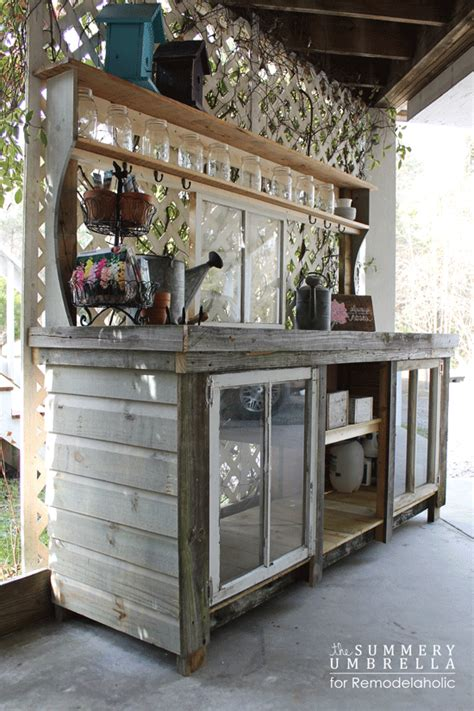 how to make a potting bench how to build a potting bench from reclaimed wood and old