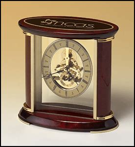 cchmc it help desk bc523 skeleton desk clock with rosewood and gold accents
