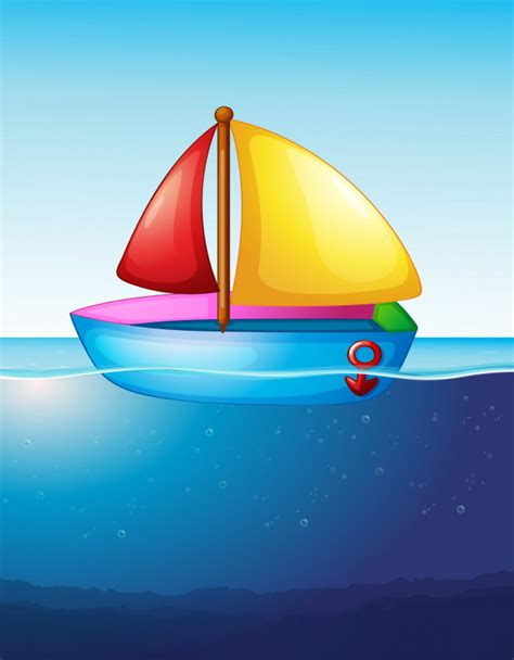 boat floating in water toy boat floating on water vector free download