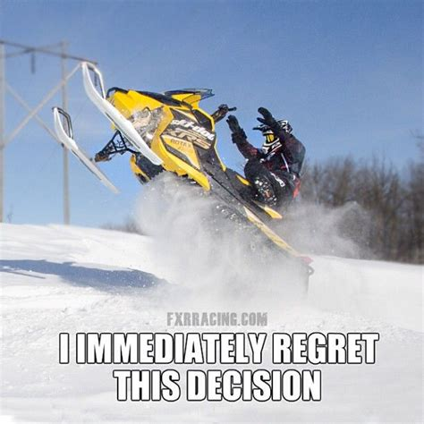 Snowmobile Memes - fxr racing meme ski doo pinterest jokes racing and haha