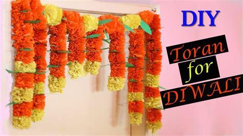 diy decorations using crepe paper marigold paper flower toran diy diwali decorations