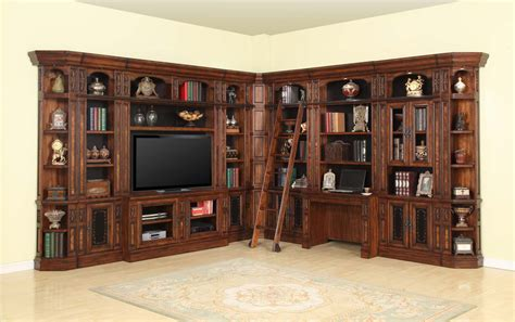 library wall units bookcase parker house leonardo library wall unit bookcase set 3 leo